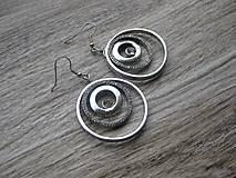 Náušnice - Štrasové kruhy č.881 - Akcia - 8083698_