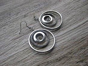 Náušnice - Štrasové kruhy č.881 - 8083698_