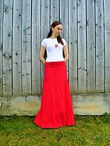 Sukne - Maxi-červená.... - 8084169_
