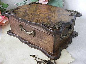 Krabičky - Vintage truhlica ... - 8081951_