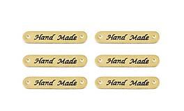 - Koženková tabuľka HANDMADE zlatá - 8084217_
