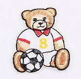 Aplikácia / nažehlovačka medvedík futbalista