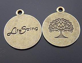 Komponenty - Prívesok strom života mosadz - 8083917_