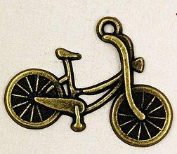 Komponenty - Prívesok bicykel mosadz - 8083927_