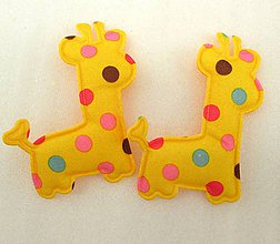 Galantéria - Aplikácia žirafa - 8084346_