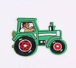 Galantéria - Aplikácia / nažehlovačka traktor - 8084371_