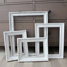 Rámiky - Sada bielych starožitných vintage rámov II. - predaná - 8083035_