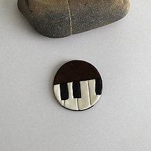 Náhrdelníky - Mozaikový prívesok (klavír) - 8083658_
