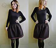 Sukne - Jolly Basic - čokoládová sukňa so stuhou - 8085060_