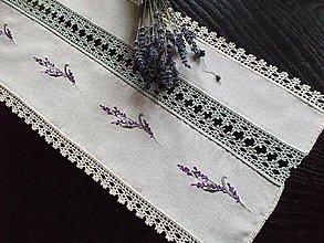 Úžitkový textil - *** štôla Lavender floral *** - 8086525_