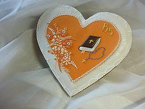 Dekorácie - Srdce s modlitebnou knižkou - 8086134_