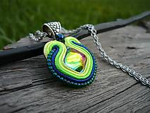 - Soutache přívěšek Magic ocean lagoon - 8085469_