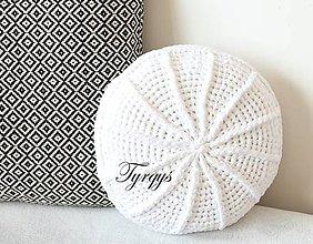 Úžitkový textil - Biely vankúš - 8088360_
