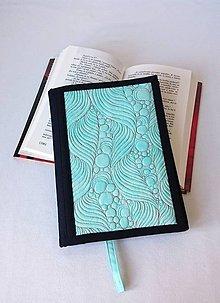 Papiernictvo - Quiltovaný obal formát A5 - modrá lagúna - 8087437_