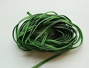 Galantéria - S4802-Sutaška, 5 metrov, šírka 3 mm - zelená, amazonská - 8088630_