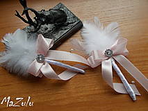 Pierka - svadobné pierko v pastelovoRužovej - 8085494_