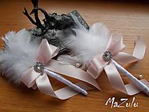 Pierka - svadobné pierko v pastelovoRužovej - 8085495_