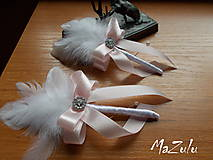 Pierka - svadobné pierko v pastelovoRužovej - 8085496_