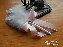 Pierka - svadobné pierko v pastelovoRužovej - 8085497_