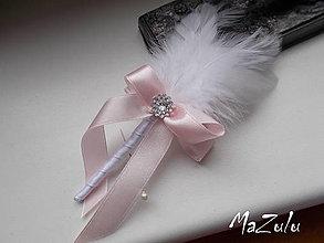 Pierka - svadobné pierko v pastelovoRužovej - 8085501_