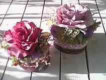 Dekorácie - Kvetinová krabička - 8088909_