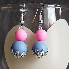 """Náušnice - Silikónové náušnice k náhrdelníku na kojenie """"Barbie I."""" - 8087415_"""