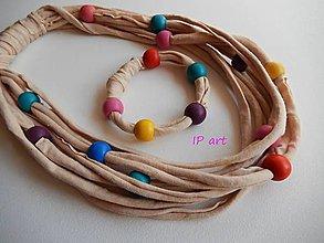 Sady šperkov - Pestré a béžová - set - 8087959_
