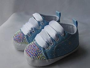 Topánočky - Capačky vykladané kryštálmi - 8086113_