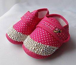 Topánočky - Capačky vykladané perlami - 8086262_