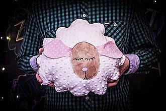 Hračky - Pozitívny vankúš - ružová Ovka - 8087187_