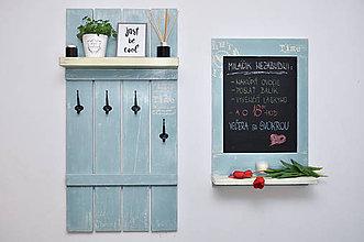 Nábytok - Vešiak a kriedová tabuľa Time - 8088472_