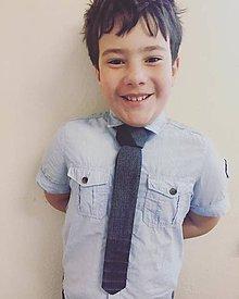 Iné doplnky - Predviazaná rifľová kravata pre chalanov a baby - 8088142_