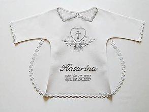 Textil - Bielo-strieborná krstná košieľka - 8087966_