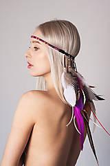 Ozdoby do vlasov - Bohatá elastická hippie čelenka - 8086646_