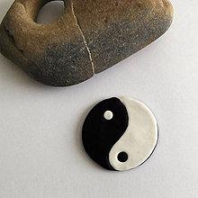 Náhrdelníky - Mozaikový prívesok (Jing-jang) - 8086548_
