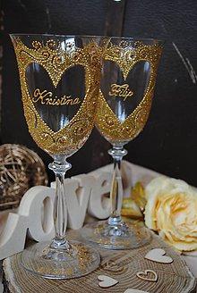 Nádoby - Svadobné poháre - 8090228_