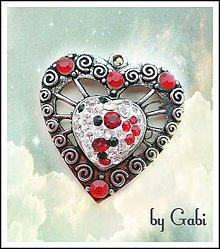 Iné šperky - Privesok Červene srdce - 8091683_