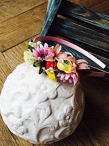 Ozdoby do vlasov - Ružová margarétka - čelenka - 8091235_