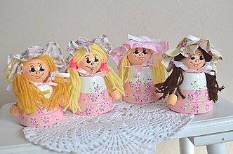 Dekorácie - Ružové bábiky - 8089357_