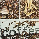Papier - S963 - Servítky - káva, coffee, zrnko, café, srdce, škorica - 8091503_