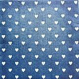 Papier - S965 - Servítky - srdce, jeans, džíny, srdiečka, džínsovina, shabby - 8091693_