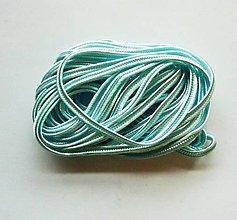 Galantéria - S27 - Sutaška, 5 metrov, šírka 3 mm - modrá, akvamarínová - 8089899_