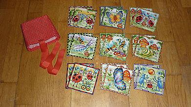 Hračky - Pexeso látkové CHROBÁČIKY - dva varianty (18 látkových kartičiek) - 8091284_