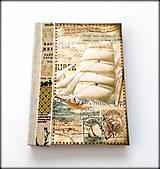 Ručne šitý cestovateľský zápisník * diár * denník A5
