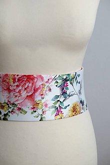 Opasky - opasok s pestrofarebnými kvetmi - 8092535_