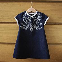 Detské oblečenie - Denim šaty maľované 2 - 8089403_
