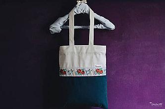 Nákupné tašky - taška s bielou stuhou - 8091458_
