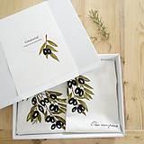 Úžitkový textil - Darčekové balenie - olivy. Obrus a vankúš - 8089567_