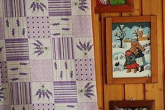 Úžitkový textil - Levandulový...Obrus v štýle Provance. - 8091395_