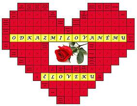 Grafika - Krížovkové srdce - 8089014_